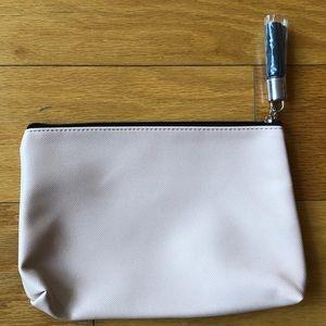NEW Ouidad Zip-Top Makeup Bag Light Pink NWT
